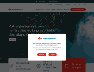 canadianpond.ca screenshot