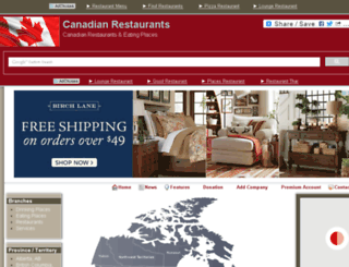 canadianrestaurants.org screenshot