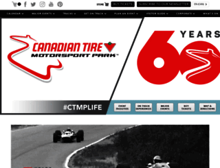 canadiantiremotorsportpark.com screenshot