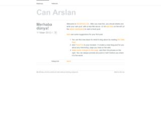 canarslan.wordpress.com screenshot