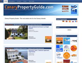 canarypropertyguide.com screenshot