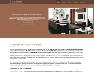 canarywharf-cleaners.co.uk screenshot