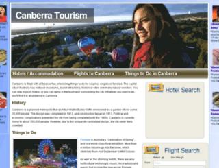 canberratourism.com.au screenshot