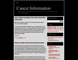 cancer-info-source.blogspot.com screenshot
