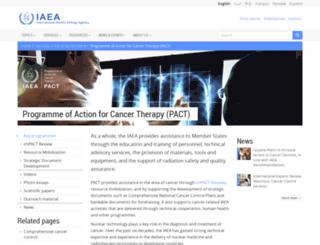 cancer.iaea.org screenshot
