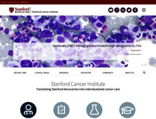 cancer.stanford.edu screenshot