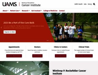 cancer.uams.edu screenshot