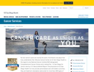 cancer.ucsd.edu screenshot