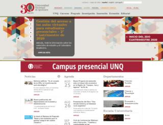 cancer.unq.edu.ar screenshot