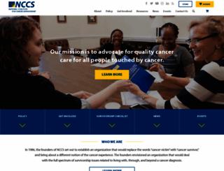 canceradvocacy.org screenshot