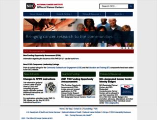 cancercenters.cancer.gov screenshot