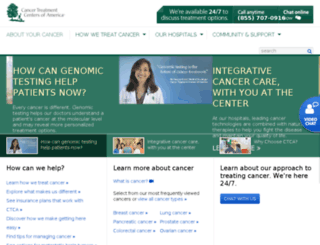 cancercentertreatmentofamerica.com screenshot