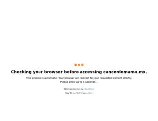 cancerdemama.mx screenshot