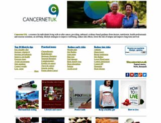 cancernet.co.uk screenshot