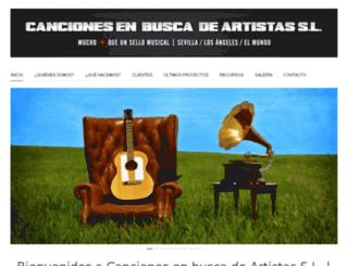 cancionesenbuscadeartistas.com screenshot