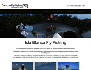 cancunflyfishing.com screenshot