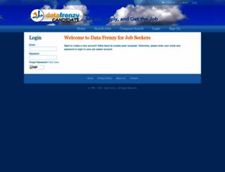 candidate.datafrenzy.com screenshot