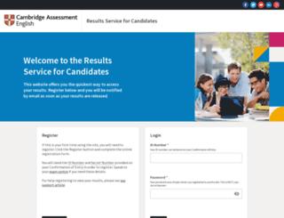 candidates.cambridgeenglish.org screenshot