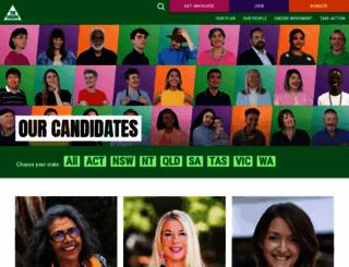 candidates.greens.org.au screenshot