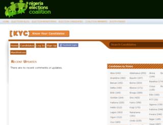 candidates.nigeriaelections.org screenshot