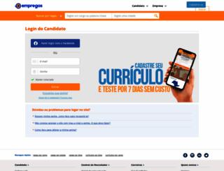 candidato.empregos.com.br screenshot