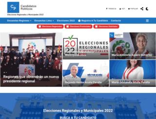 candidatos.com.pe screenshot