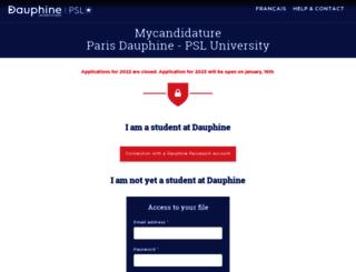 candidatures.dauphine.fr screenshot