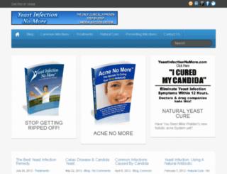 candidayeastcure.org screenshot