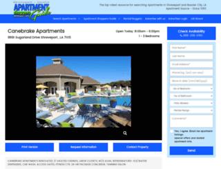 canebrakeshreveport.com screenshot