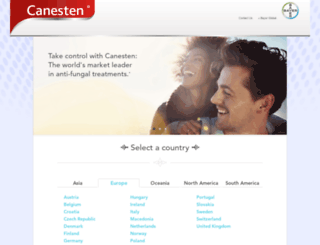 canesten.com screenshot