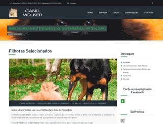canilvolker.com.br screenshot