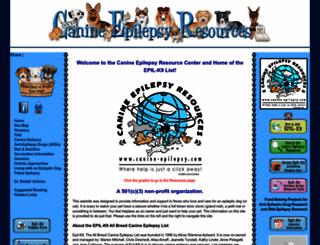 canine-epilepsy.com screenshot