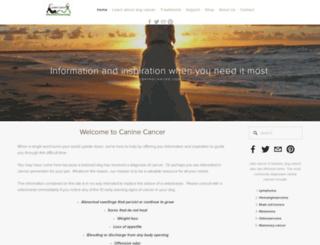 caninecancer.com screenshot