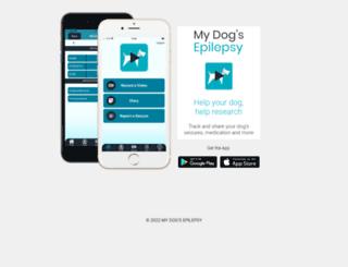 canineseizures.org screenshot