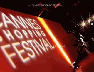 cannesshoppingfestival.com screenshot