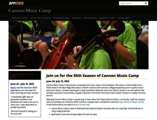 cannon.appstate.edu screenshot