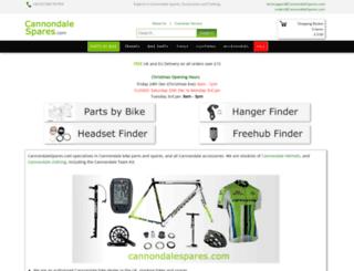 cannondalespares.com screenshot