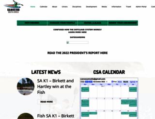 canoesa.org.za screenshot