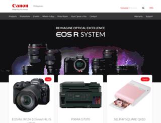 canon.com.ph screenshot