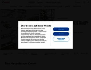 canon.de screenshot