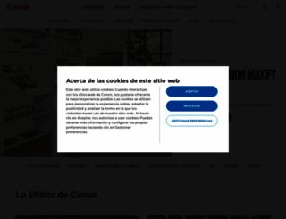 canon.es screenshot