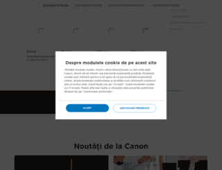 canon.ro screenshot