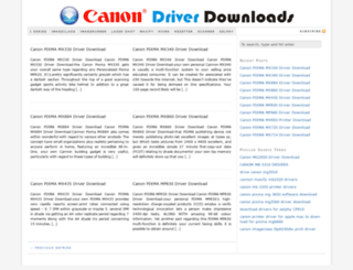 canondriverdownloads.com screenshot