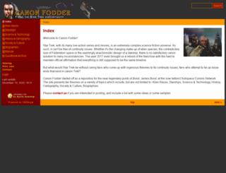 canonfodder.ex-astris-scientia.org screenshot