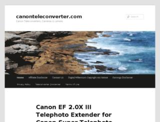 canonteleconverter.com screenshot