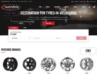 canterburytyres.com.au screenshot