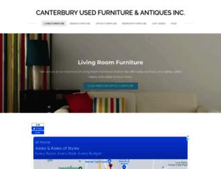 canterburyusedfurniture.com screenshot