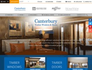 canterburywindows.com.au screenshot