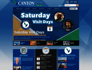 canton.edu screenshot