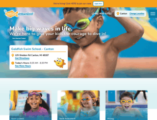 canton.goldfishswimschool.com screenshot